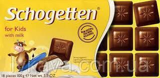 Молочный шоколад Schogetten for Kids,100 гр