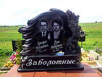 Элитный памятник для двоих с розами, фото 1