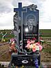 """Памятник из гранита """"Крест с розами"""""""