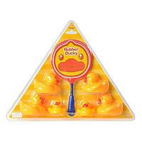 Игрушка для ванной - уточки с сачком M 4621