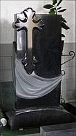 Элитный памятник из гранита с полированным крестом