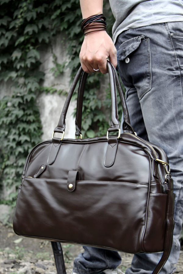 fc1aa8e48e17 Повседневная городская сумка, коричневая: продажа, цена в Киеве ...