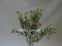 Искусственный куст мимозы( цвет светло розовый)