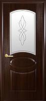 Двери  ОВАЛ   DeLuxe(со стеклом) цвет каштан,золотая ольха,венге,ясень