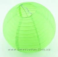 Бумажный подвесной фонарик, салатовый, 35 см