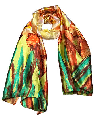 Шелковый шарф Весенние акварели