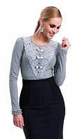Блуза Mirabel Zaps с длинным рукавом. Материал вискоза, украшена нежным кружевом.