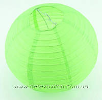 Бумажный подвесной фонарик, салатовый, 20 см