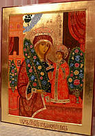 Иконы на сусальном золотое. Икона писаная Неувядаемый цвет