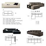 Итальянский модульный диван Byron с выдвижными подушками сиденья фабрика Felis, фото 8