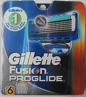 Лезвия Gillette Fusion Proglide Manual, 6 Count Cartridge , фото 1