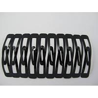 Хлопушки для волос обычные черные 6,2 см