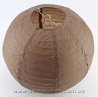 Бумажный подвесной фонарик, коричневый, 25 см