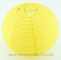 Бумажный подвесной фонарик, желтый, 15 см