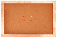 Доска пробковая деревянная рамка, 45x60см