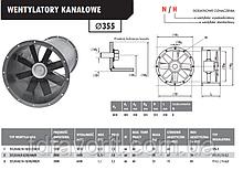 Вентилятор канальный  Deltafan 355/KAN/10/10/40/400/H