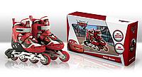 Роликовые коньки Disney Cars М (35-38) c металлической рамой (RS0108)