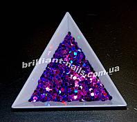 Шестигранники (соты) фиолетовые голографические