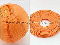 Бумажный подвесной фонарик, оранжевый, 35 см