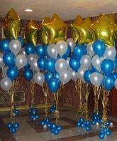 Оформление ресторана фольгированными воздушными шарами