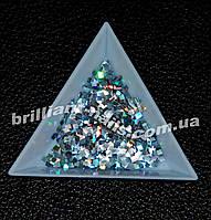 Квадратики серебро голографическое