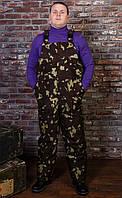 """Мужская утепленная одежда для рыбалки и охоты, полукомбинезон зимний утепленный """"Тайфун"""" камуфляж дубок"""