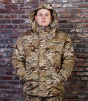 """Зимняя мужская куртка для рыбалки и охоты """"Арктика"""" камуфляж мультикам"""