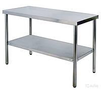 Стол кухонный 600х1200мм с бортиком WG304-2448-11/2 Shinbo
