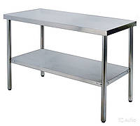 Стол производственный WG304-2448-11/2 Shinbo (600х1200мм с бортом)
