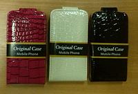 """Сумка-книжка """"CROCO CASE"""" iPhone 4/4s (Черная, белая)"""