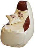 Безкаркасне Крісло мішок пуф КОМФОРТ меблі, фото 5