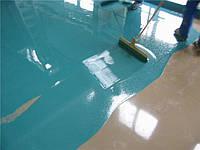 Цветной наливной пол для ванны и кухни Аквахим ЭПК