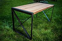 """Стол из массива дерева прямоугольный модель """"Х"""" для бара, кафе, ресторана, дома, фото 1"""