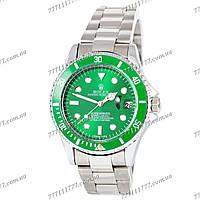 Часы мужские наручные Rolex Submariner Silver-Green