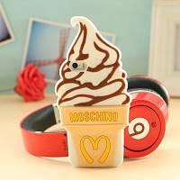Чехол бело-шоколадное мороженное MOSCHINO для Iphone 5/5S