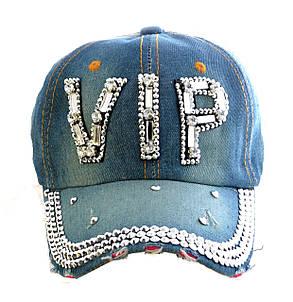 """Джинсовая кепка со стразами """"Vip"""", фото 2"""