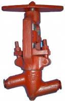 Вентиль энергетический, клапан запорный сальниковый 588-10-0