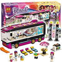 Конструктор Bela серия friends /подружки 10407 Автобусный тур поп-звезды (аналог Lego Friends 41106)