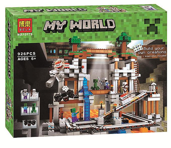 "Конструктор Minecraft Bela 10179 ""Шахта"" (аналог Lego Майнкрафт 21118), 926 дет"