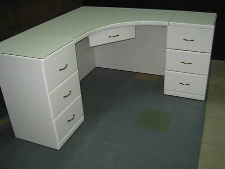 Стол компьютерный ФАБЕРЖЕ(белый+золотая патина)