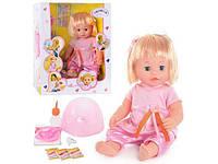 """Baby born """"Валюша"""". Пупс кукла 8 функций, 10 предметов. Звук, кушает, ходит в горшок. Девочка., фото 1"""