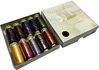 """Нитки для вышивания бисером """"Poly Fix"""" (10 катушек) цветные ассорти"""