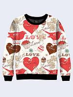 СВИТШОТ LOVE AND CUPCAKES; XXS, XS, S, M, L, XL, фото 1