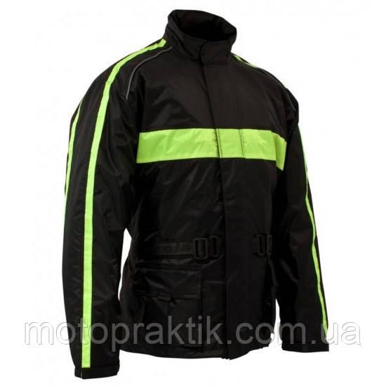Roleff RO 1001 Rain Jacket Black/Neon Yellow, XS Мотокуртка дощова