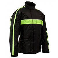 Roleff RO 1001 Rain Jacket Black/Neon Yellow, XS Мотокуртка дождевая