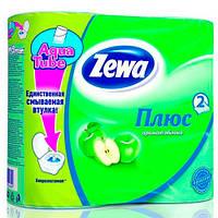 Zewa Plus «Яблоко. Зеленая» Двухслойная туалетная бумага 4 шт