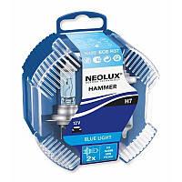 H7 Автолампа галоген (неолюкс) NEOLUX H7 12V 55W 4000K PX26D / BLUELIGHT - БЕЛО-ГОЛУБОЙ СВЕТ