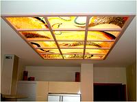 Подвесной потолок стекло с фотопечатью