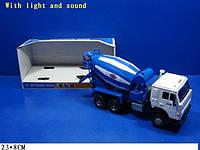 "Машина батар 9117B (24шт/2)""Бетономешалка"" свет,звук,в кор 23*8см"