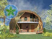 Каркасный, купольный дом площадью 94,3 м2 (3V-2-102/1)